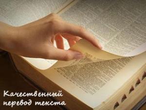 Качественный перевод текста